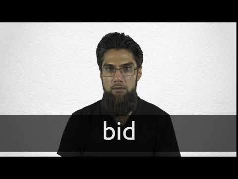 Bid Definition And Meaning Collins English Dictionary
