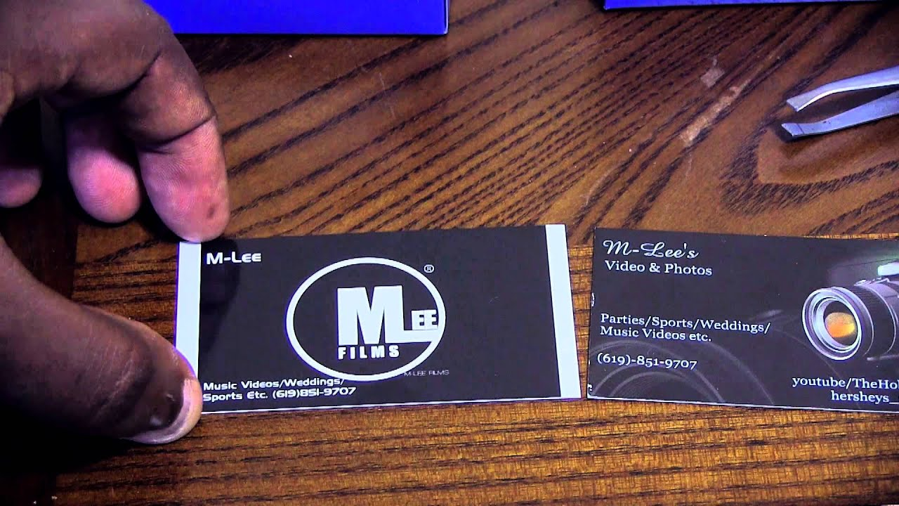 My 2013 VistaPrint Cards - YouTube
