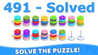 Color Hoop Stack - Level 491 screenshot 4