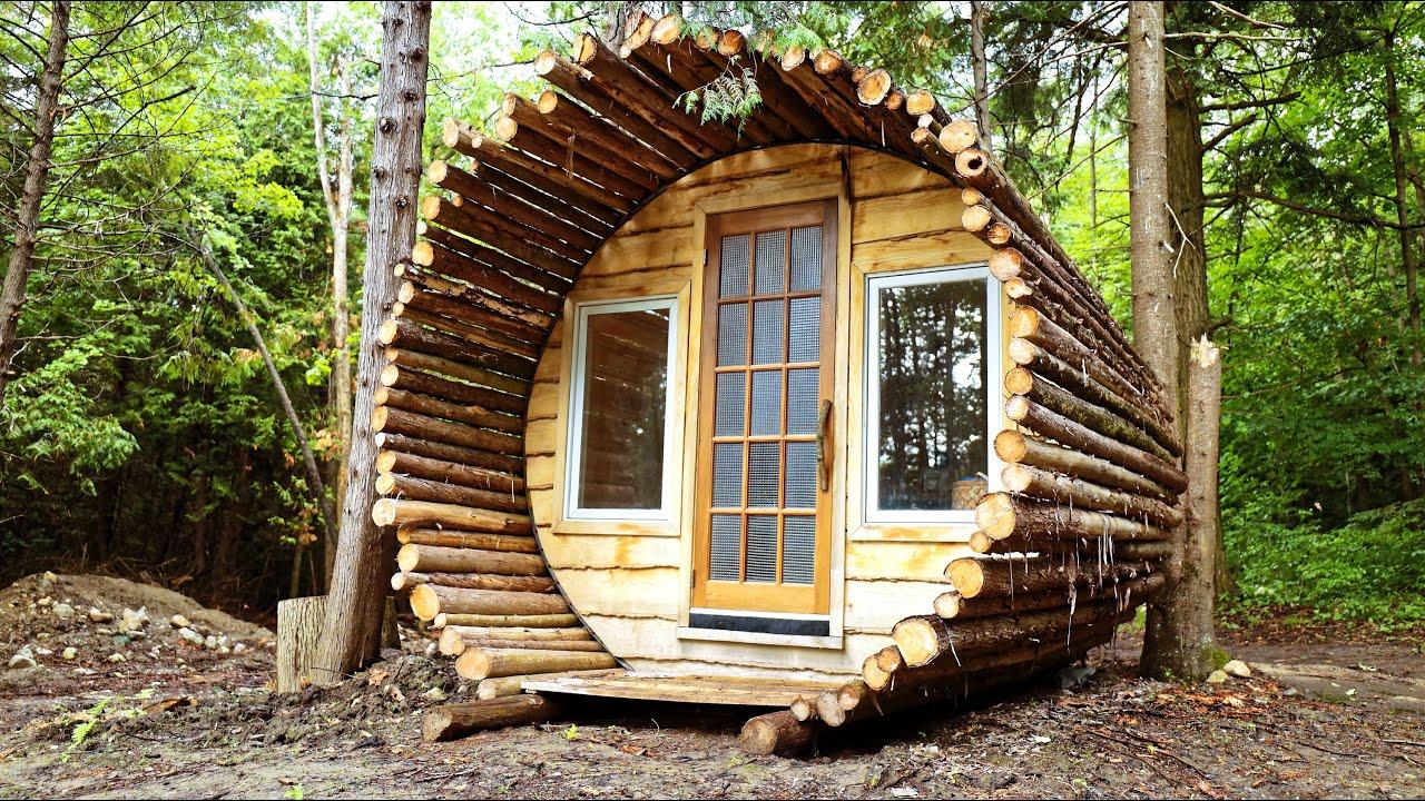 Building a Beautiful Log Sauna (Start to Finish)