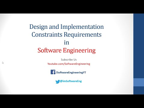 Design and implementations constraints in software engineering | Requirment engineering