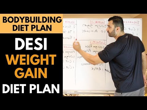 Desi WEIGHT GAIN Bodybuilding DIET PLAN! (Hindi / Punjabi)