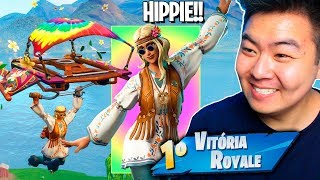 I WON WITH THE NEW SKIN OF HIPPIE * EPIC *!! -Fortnite Battle Royale