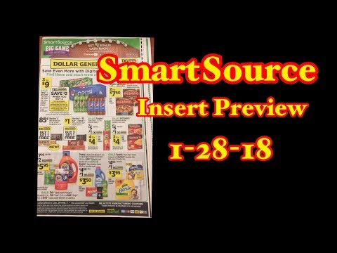 Insert Preview SmartSource 1-28-18 Dollar General Ad Couponing Crystle