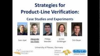 Strategies for Product-Line Verification: Case Studies and Experiments ICSE 2013 Teaser