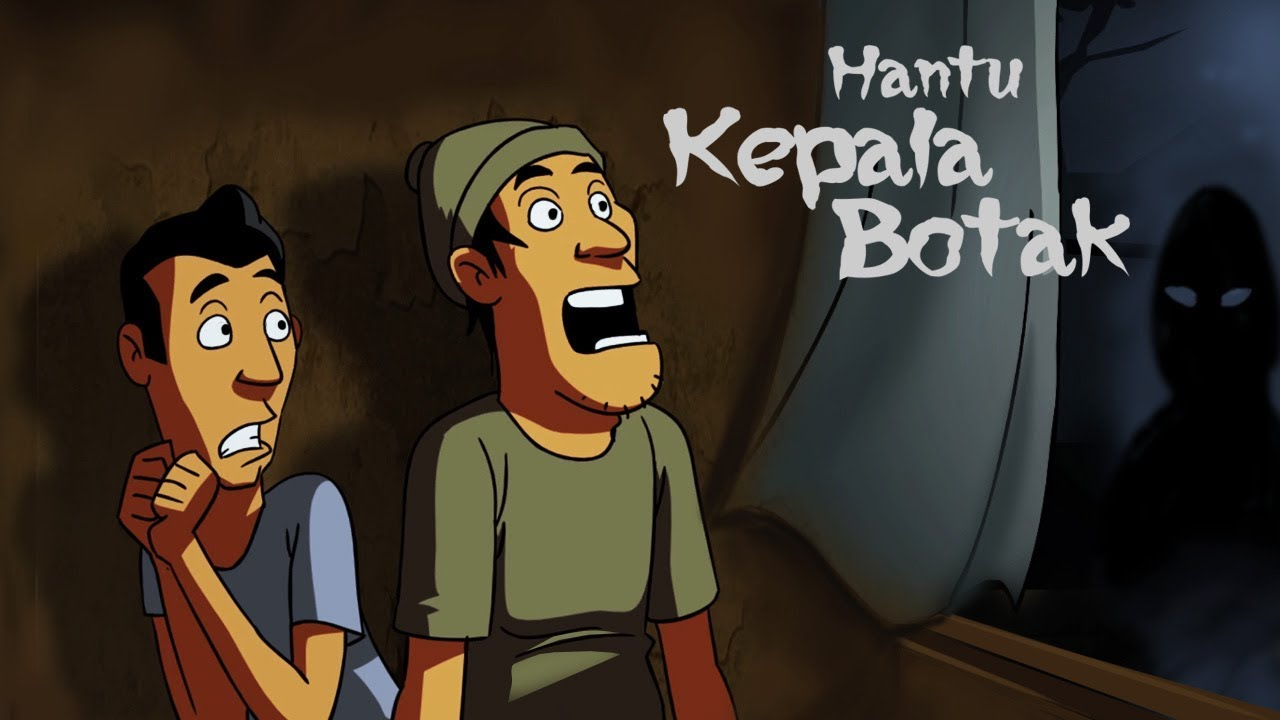 Kartun Lucu Horor Hantu Kepala Botak Funny Cartoon