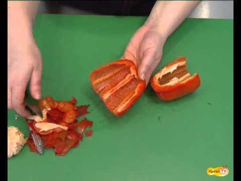 Comment pr parer un poivron youtube - Comment cuisiner des poivrons ...