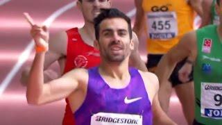 06/03/2016 Atletismo - Final de 800m pista cubierta - Kevin López campeón de España