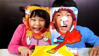 라임의 파이 페이스 손바닥룰렛 복불복 보드게임 챌린지 장난감 놀이 PIE FACE SHOWDOWN!! Whipped Cream CHALLENGE! Toys Игрушки 라임튜브