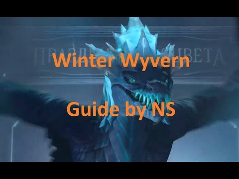 видео: dota 2 winter wyvern guide - Гайд на Виверну в Дота 2 - by ns
