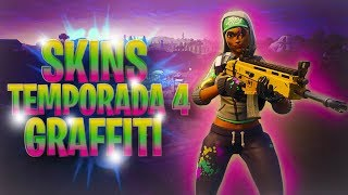 SKIN GRAFFITI CON SUBS TEMPORADA 4 - FORTNITE BATTLE ROYALE