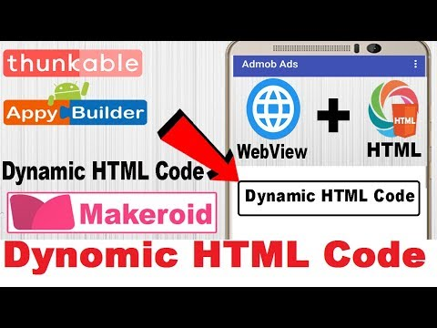 Dynomic HTML Code |  Direct HTML Code | HTML CSS Button |  Thunkable | Appybuilder | Makeroid