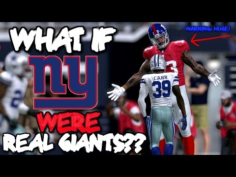 What if the NEW YORK GIANTS WERE ALL GIANTS IN REAL LIFE?? Madden 17