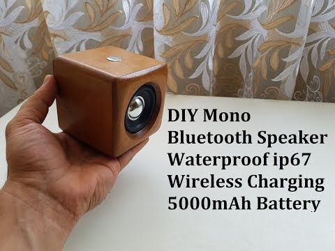 DIY Mono Bluetooth Speaker Waterproof ip67, Wireless  Charging, 5000mAh Battery and many Bass