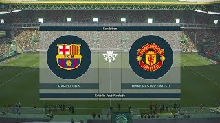 Barcelona vs Manchester United - All Goals & Highlights PES 2019
