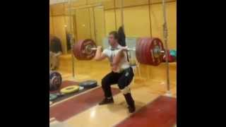 Skinny 19 Years Old Weightlifter - Big Clean and Jerk 227 kg