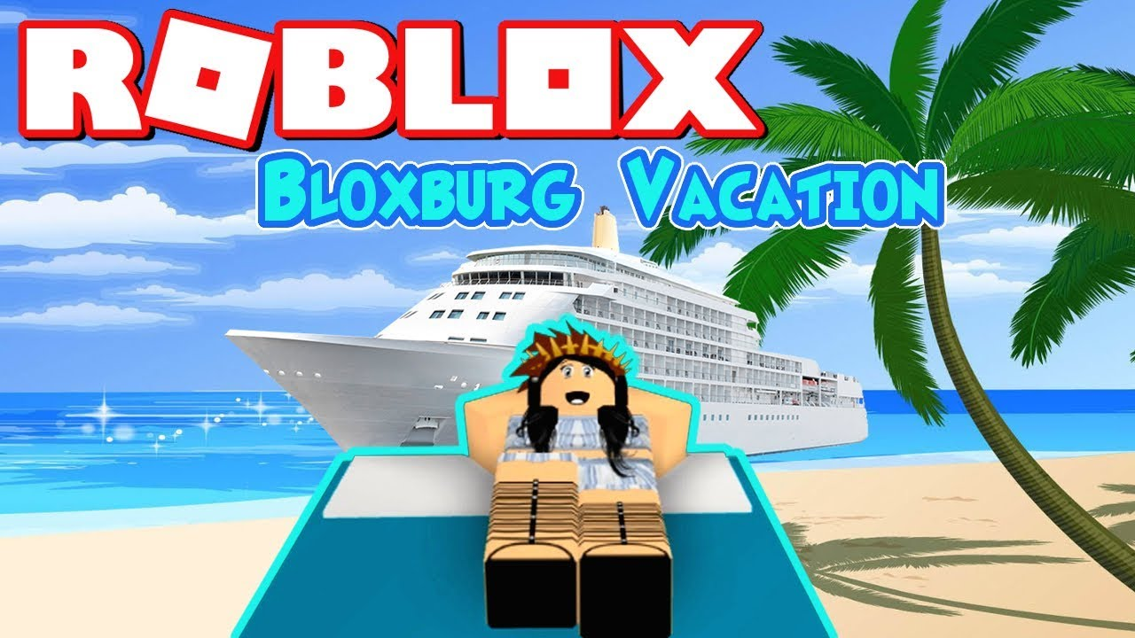 MY BLOXBURG VACATION! ROBLOX CRUISE SHIP VLOG + SKYDIVING ...