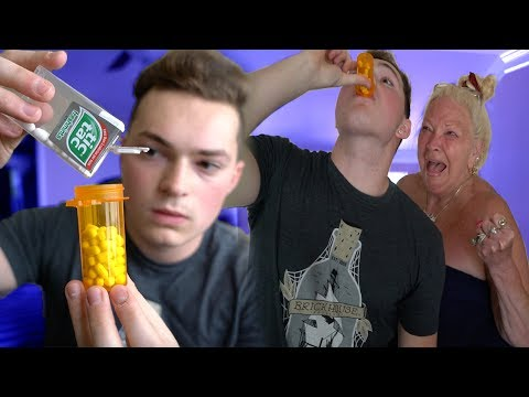TIC TACS IN PILL BOTTLE PRANK! (ANGRY GRANDMOM)