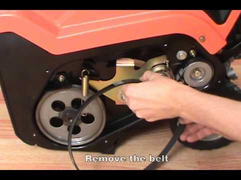 Replacing the Drive Belt  Ariens PathPro Snow Blower