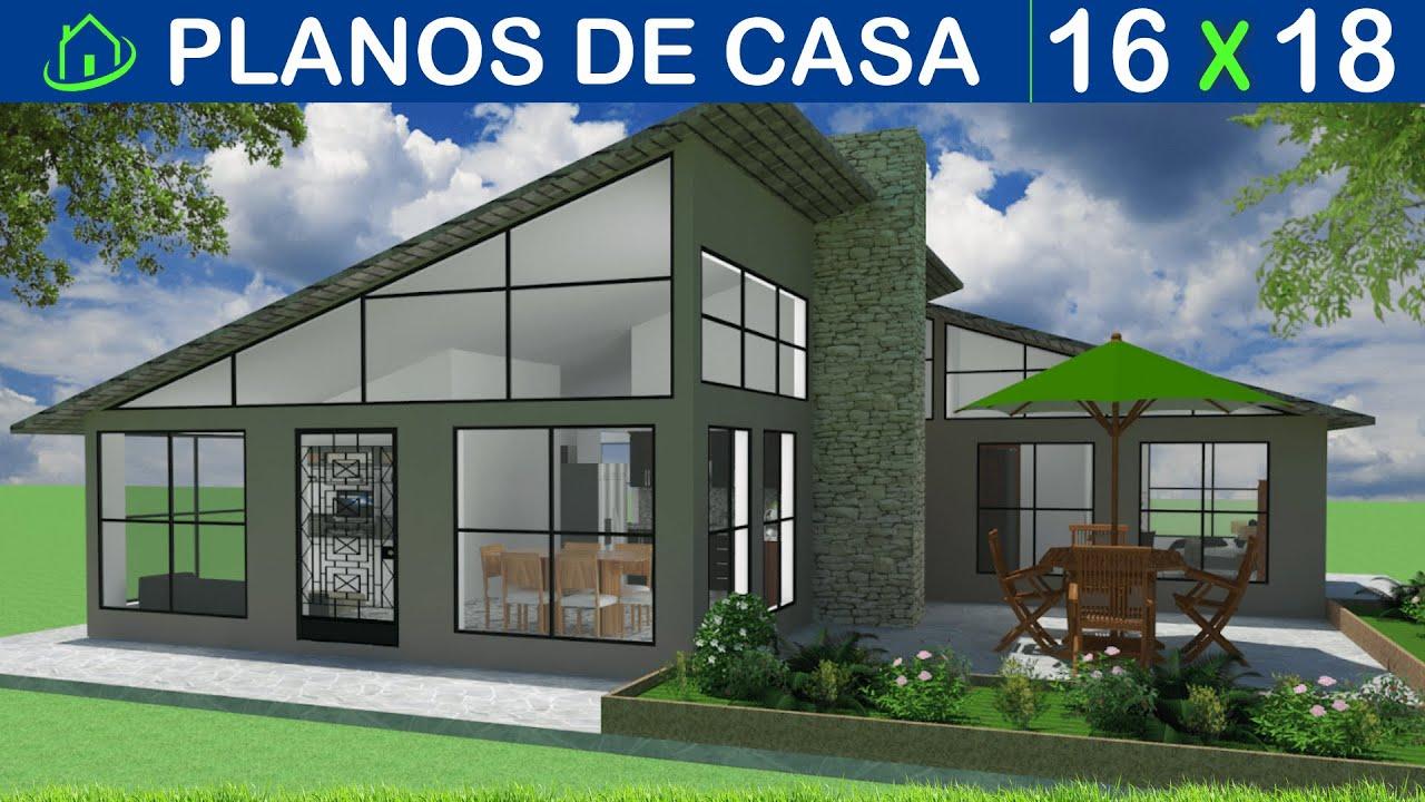 Dise os y planos de casa 1 piso minimalista proyecto cm1p for Fachadas de casas modernas en honduras