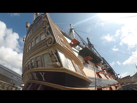 HMS Victory | Walkthrough Tour April 2017 | 4k
