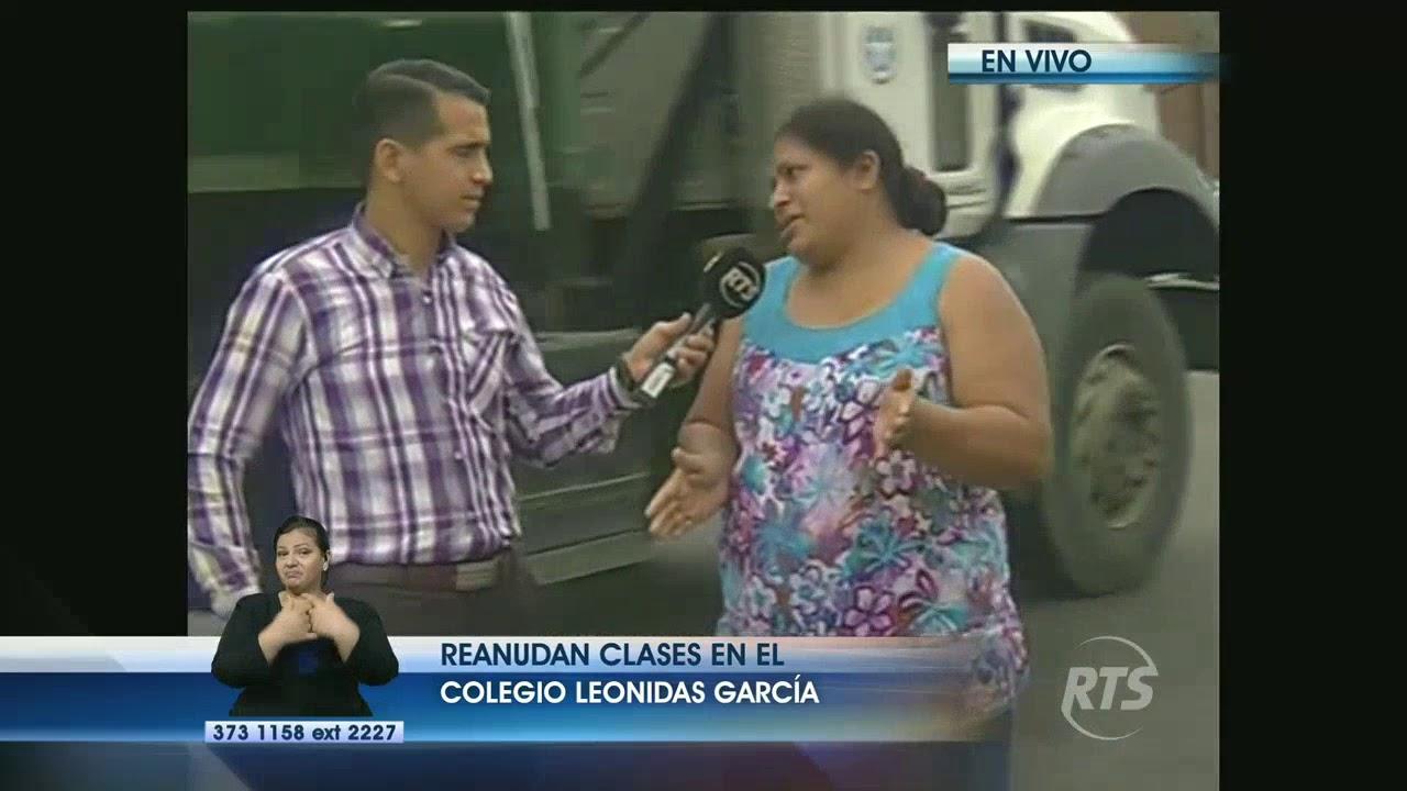 Se reanudan las clases en el colegio Leonidas García - YouTube