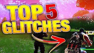 Top 5 BEST GLITCHES in Fortnite Battle Royale! (GOD MODE, Under The Map, Duplicate Weapons)