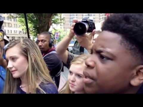 Brilliant Kid Trump Supporter Wreck Old Racist Idiot Adults In Atlanta Street Debate REACT