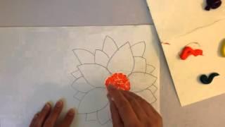 Pointillism flower part 1
