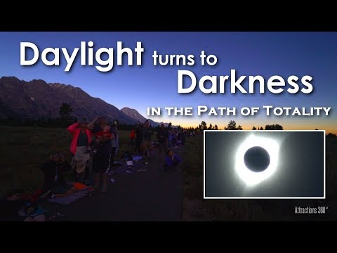 [HD] Total Solar Eclipse: Daylight turns to Night - Our Total Eclipse Experience