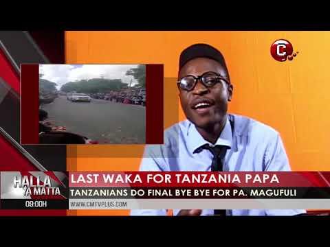Last waka for Tanzania President | President for America fall