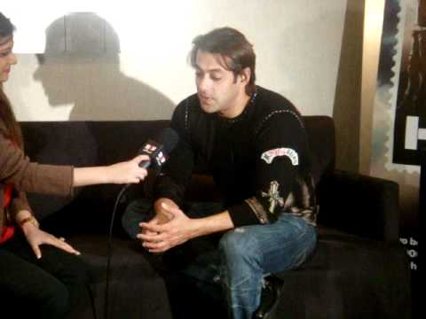 Salman looking very tired during interview for London dreams