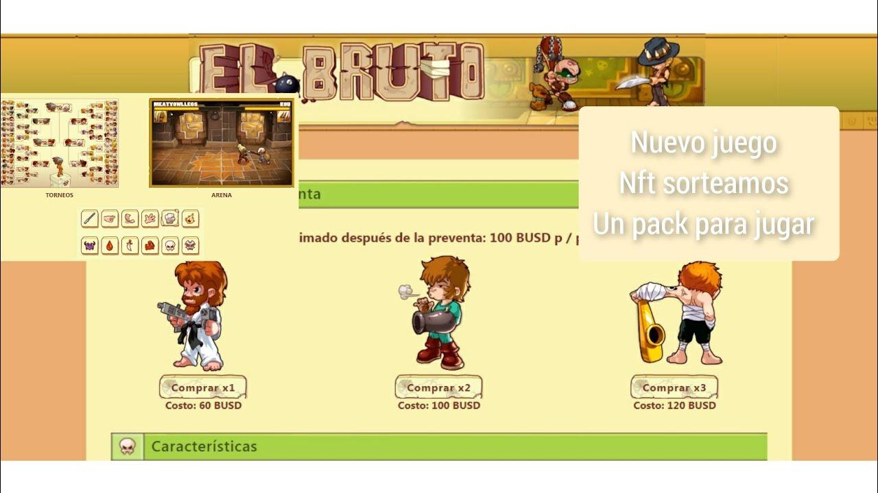 Download El Bruto nuevo juego nft sorteamos un pack un proyecto que tiene buena pinta 🎊🥳💥🤑🙌🤯💯😱