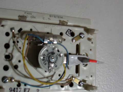 thermostat mercury switch - youtube mercury thermostat wiring