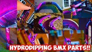 NEON HYDRODIPPING BMX PARTS! *INSANE*