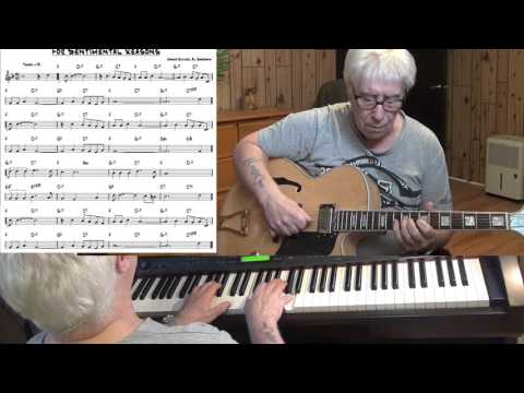 For Sentimental Reasons - Jazz guitar & piano cover ( Abner Silver & Al Sherman )