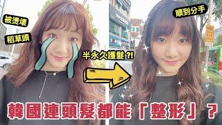 頭髮被燙壞了!在韓國花10000元「頭髮整形」!|愛莉莎莎Alisasa