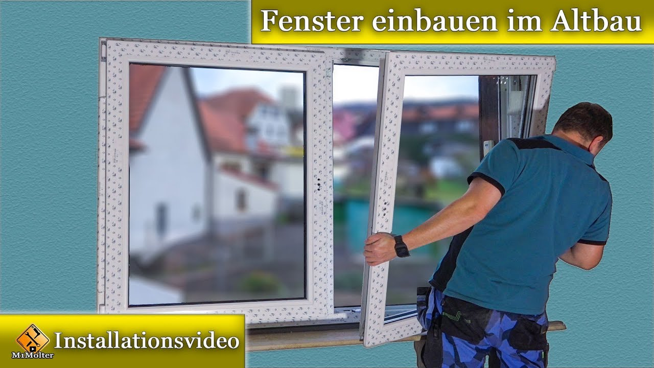 fenster montage fenster einbauen im altbau doppelfenstermontagen youtube. Black Bedroom Furniture Sets. Home Design Ideas