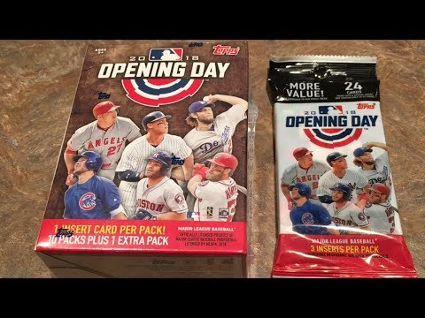 OPENING A 2018 TOPPS OPENING DAY BLASTER BOX AND HANGER PACK!  (Opening packs series)
