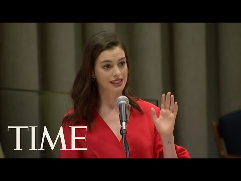 Anne Hathaway & More Speak At U.N. Special Event for International Women's Day | TIME