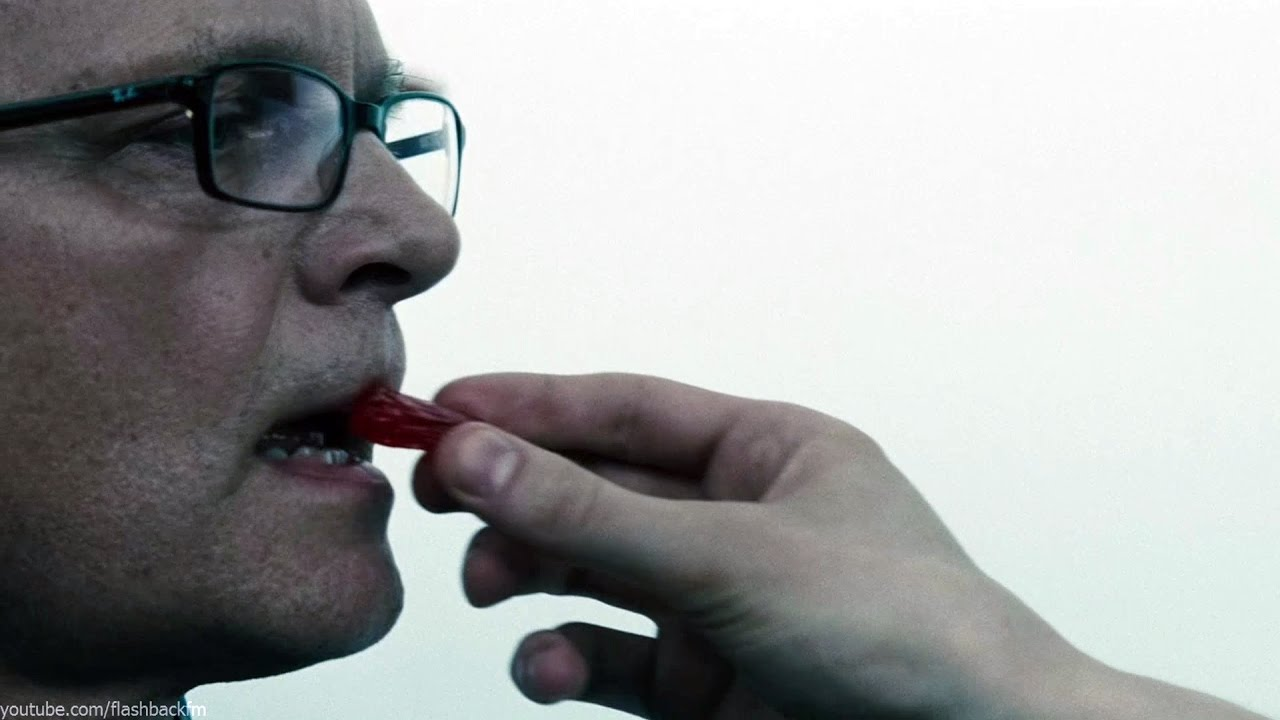 In Batman v Superman: Dawn of Justice, the scene is very odd and awkward when Lex shoves a Jolly Rancher inside the man's mouth.
