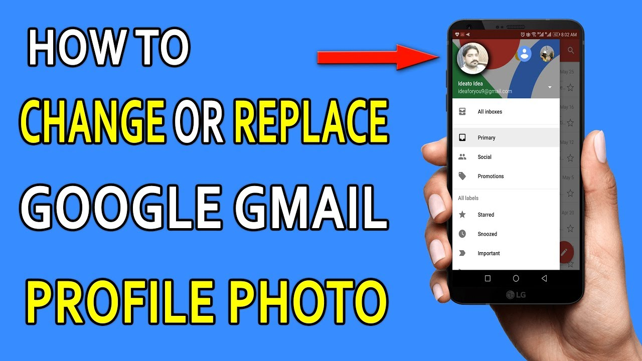 How to Change Gmail Profile Picture on Android and PC ...