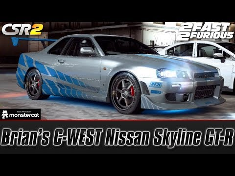 CSR Racing 2: Brian's C-WEST Nissan Skyline GT-R (BNR34) | Fast & Furious (Tej's Showdown)