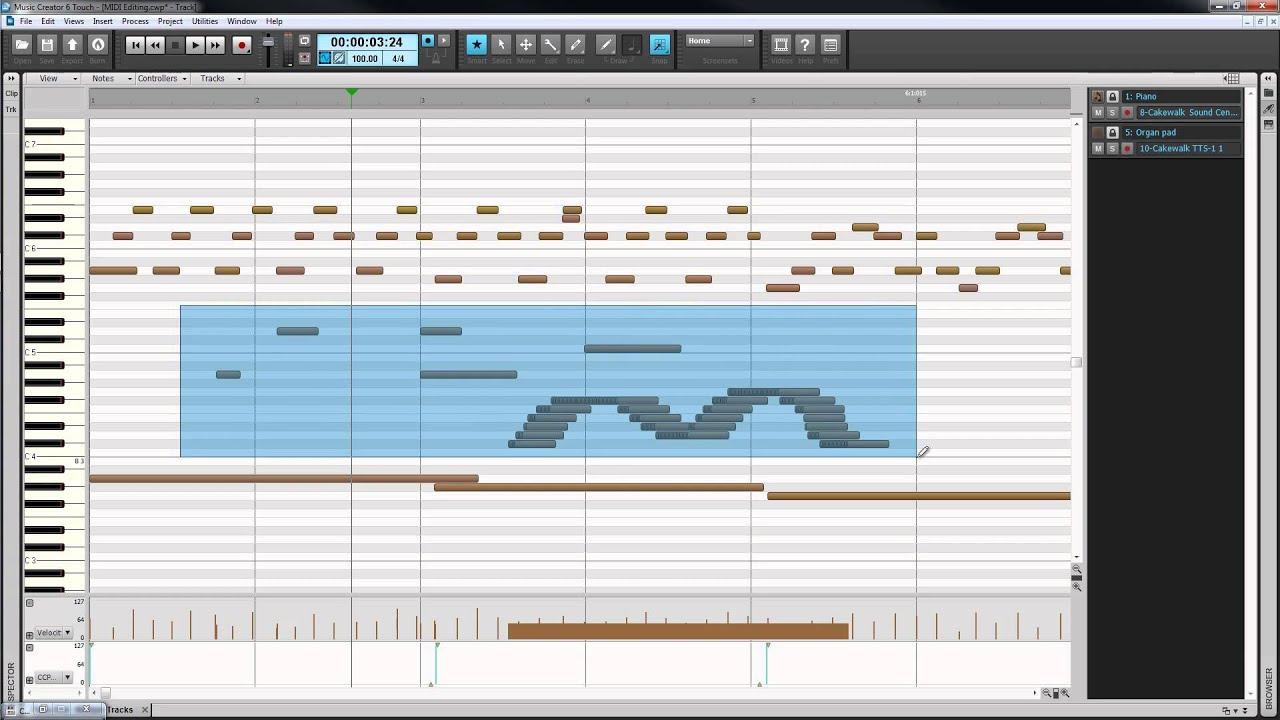 Music Creator 6 Touch: Piano Roll View & MIDI Editing