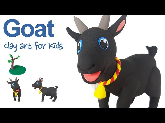Farm animals #6 | Clay Goat For Kids | How To Make A Clay Goat | Clay modeling