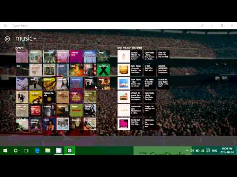 Windows 10 app look and review Tunein radio app for radio and music streams