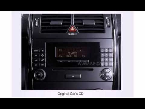 Benz b class w245 dvd player youtube for Mercedes benz radio code reset free