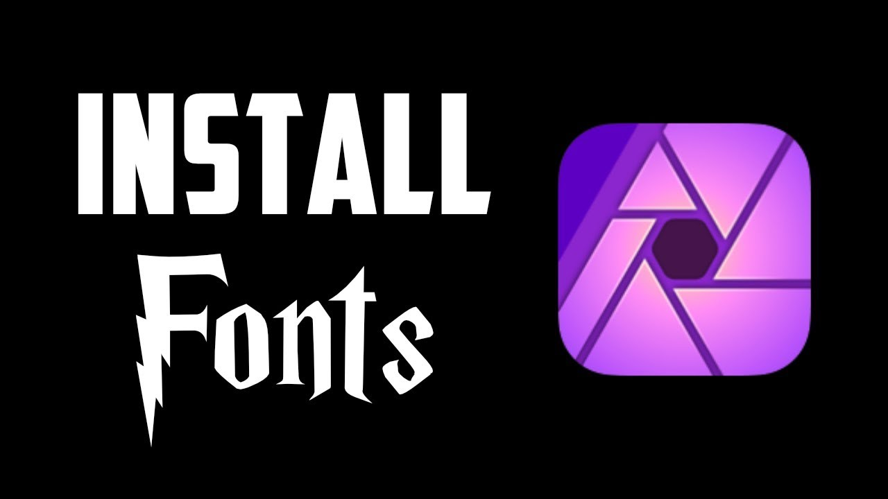 Install New Fonts in Affinity Photo for iPad