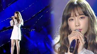 Cover images '여신' 태연(Taeyeon)의 감미로운 발라드 '11:11' @2016 SAF SBS 가요대전 2부 20161226