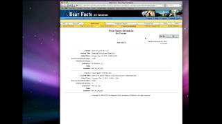 EOP Tutorial: How to Use Bearfacts